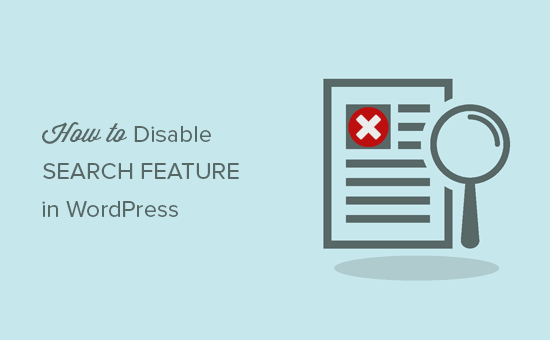 Disable Search in WordPress