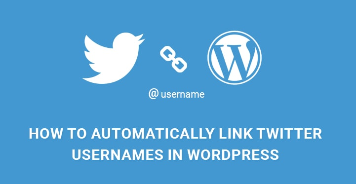 Automatically Link to Twitter Usernames in Content - WordPress