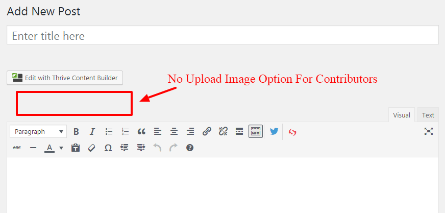 Allow Contributors to Upload Images in WordPress