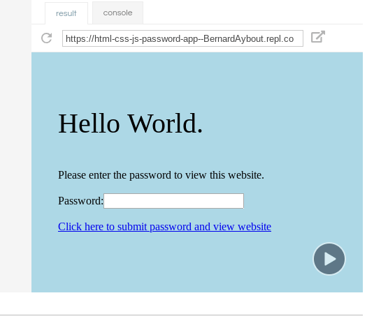 Creating your password page with JavaScript and HTML