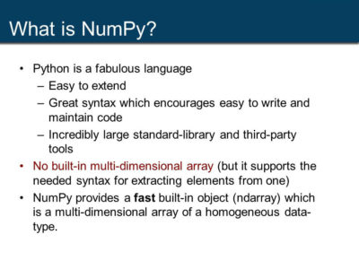 Learn about Numpy Arrays in Python programming