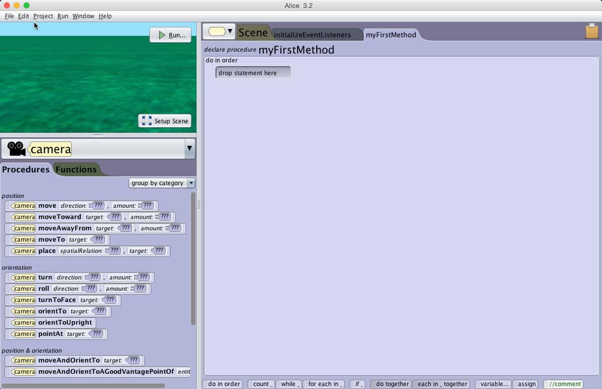 Start Screen, Code Editor