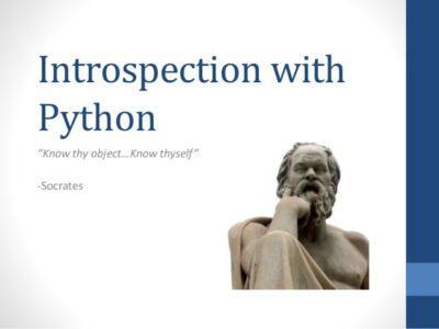 Learn Code Introspection Python Programming