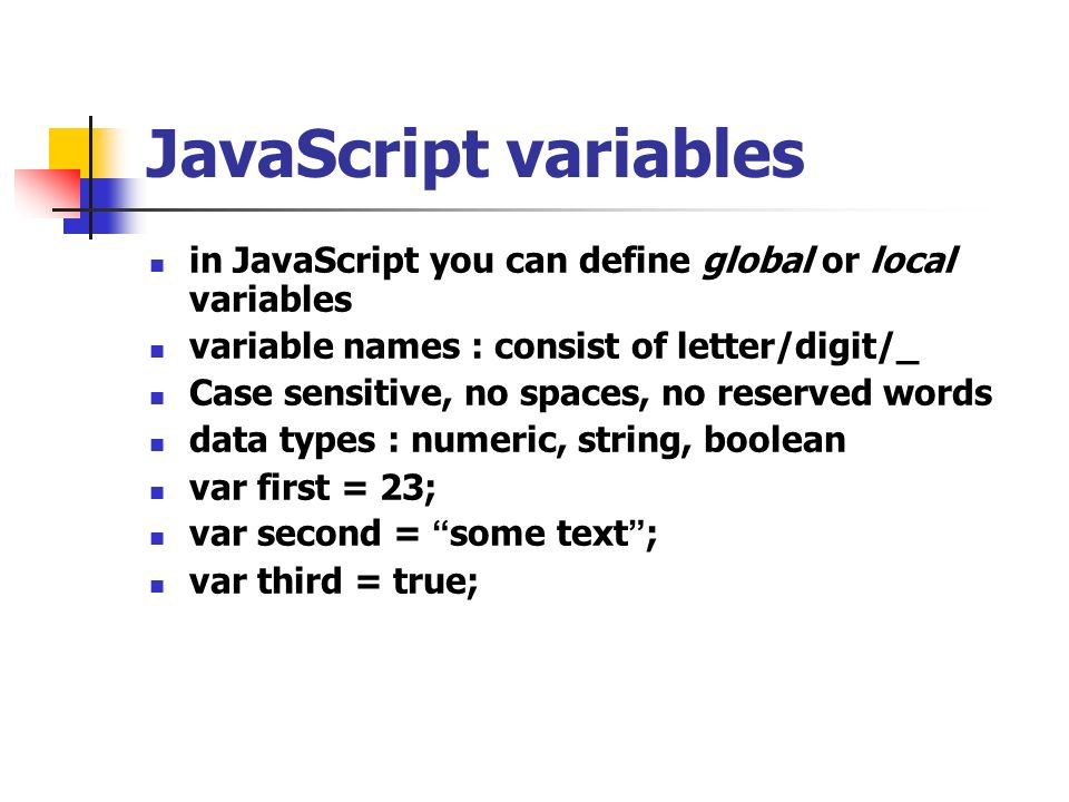 Learn more about JavaScript Variables