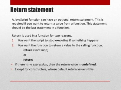 Learn about JavaScript return statement