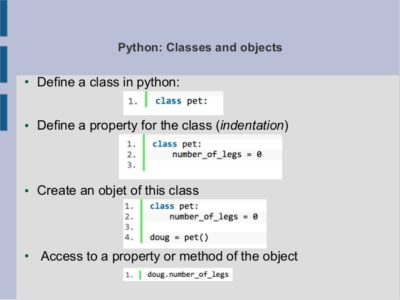 Learn about programming Classes and Objects in Python