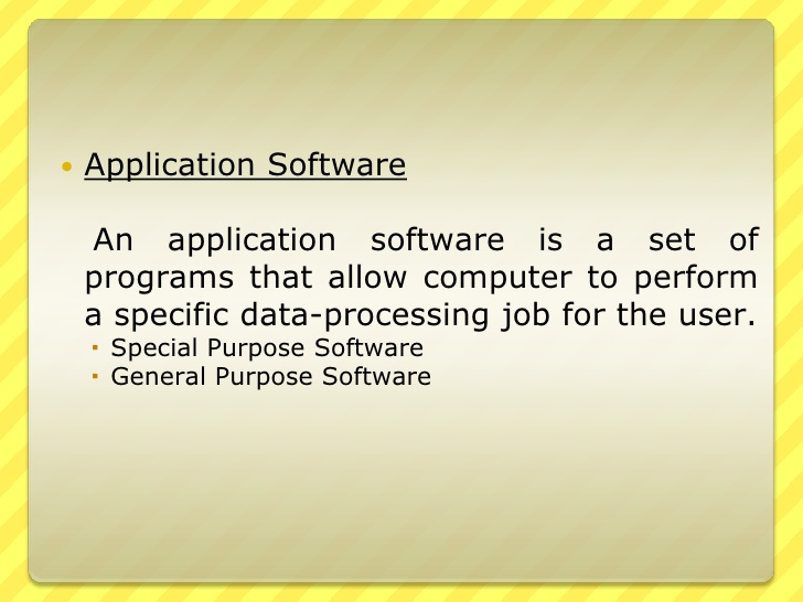 Defining What an Application Is