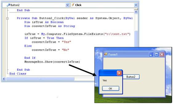 What is the default value for Boolean variable in VB.NET?