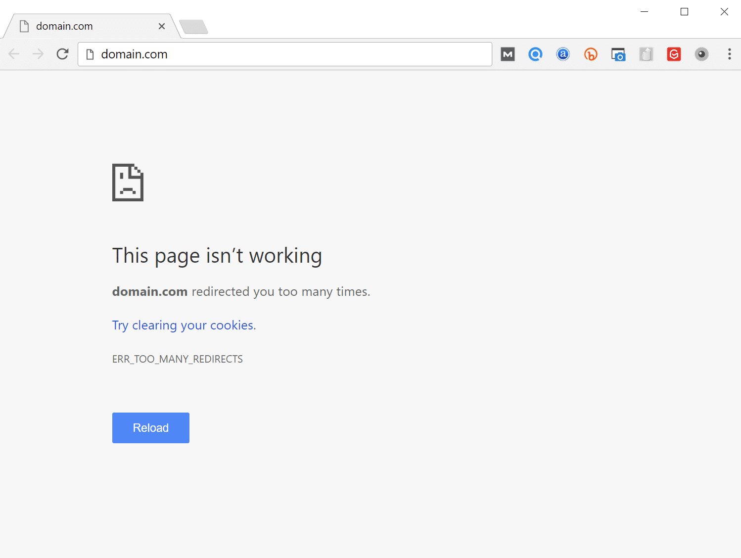 In Google Chrome this error will show as ERR_TOO_MANY_REDIRECTS - How to Fix ERR_TOO_MANY_REDIRECTS on Your WordPress Site