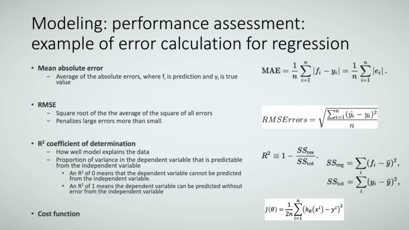 Figure 14: Modeling: performance assessment: example of error calculation for regression.