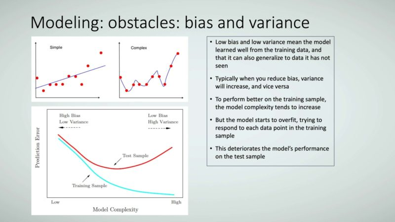 Figure 18: Modeling: obstacles: bias and variance.