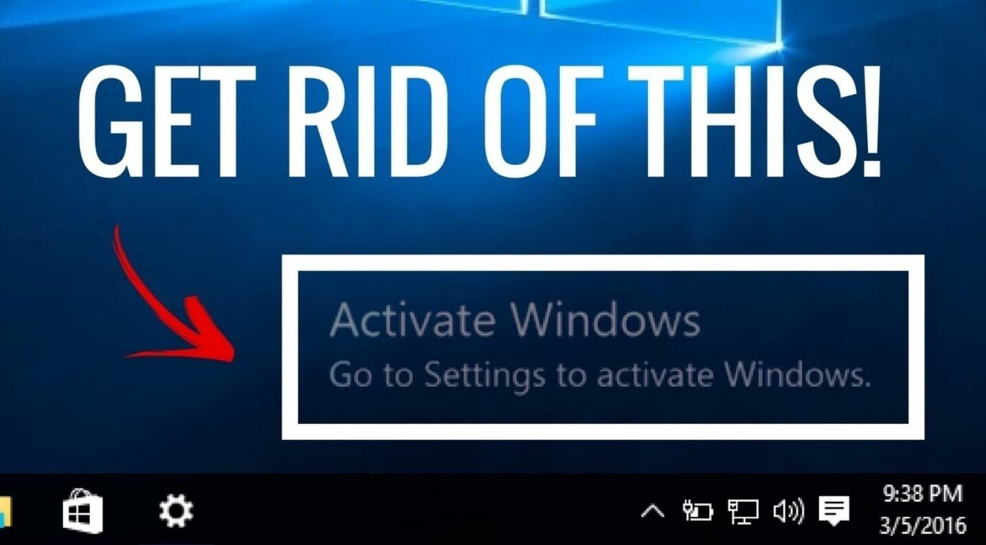 How do I activate my Windows 10? and rid myself of the watermark in the bottom right hand side?